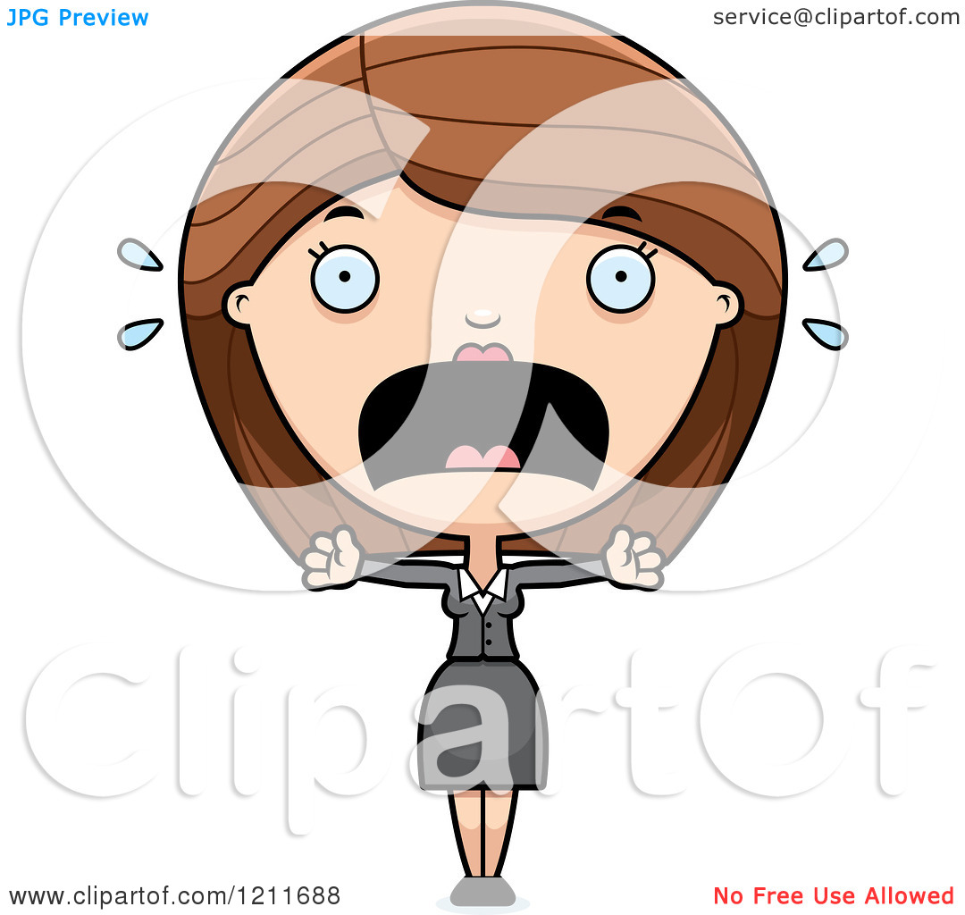Showing post & media for Cartoon woman screaming clip art.