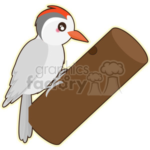 Woodpecker cartoon character vector clip art image clipart. Royalty.