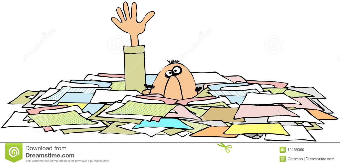Paper Overload Clipart.