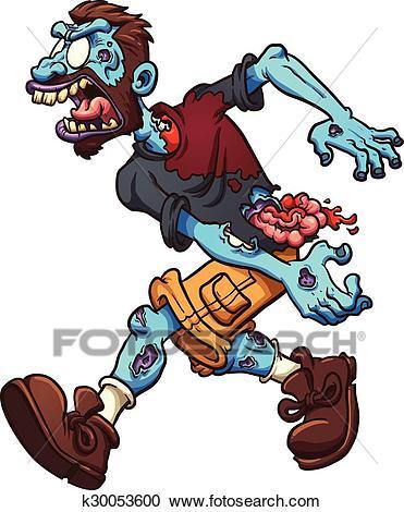 Cartoon zombie Clipart.