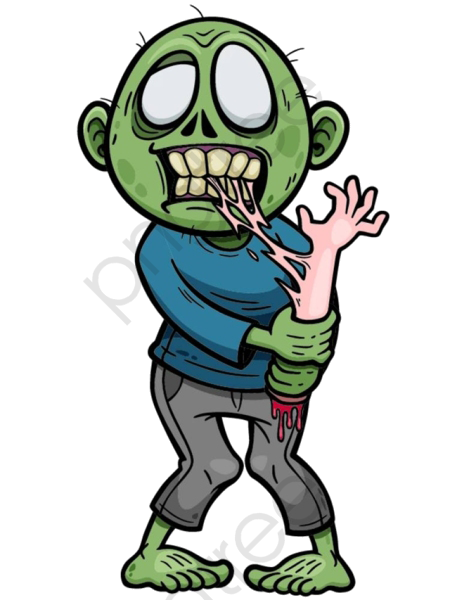 Transparent cartoon zombie material PNG Format Image With Size 450.