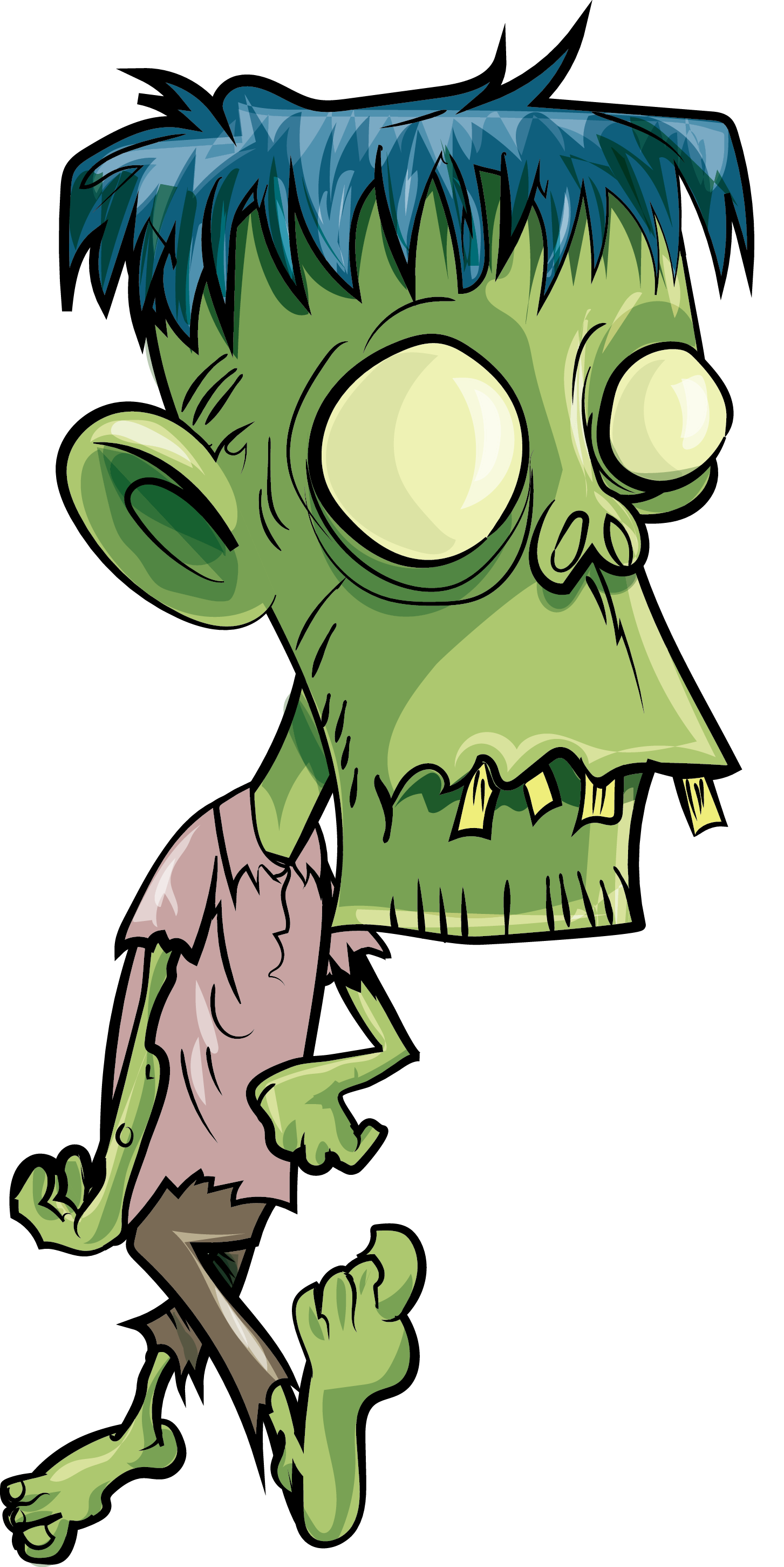 Cartoon Zombie Transparent Background PNG.