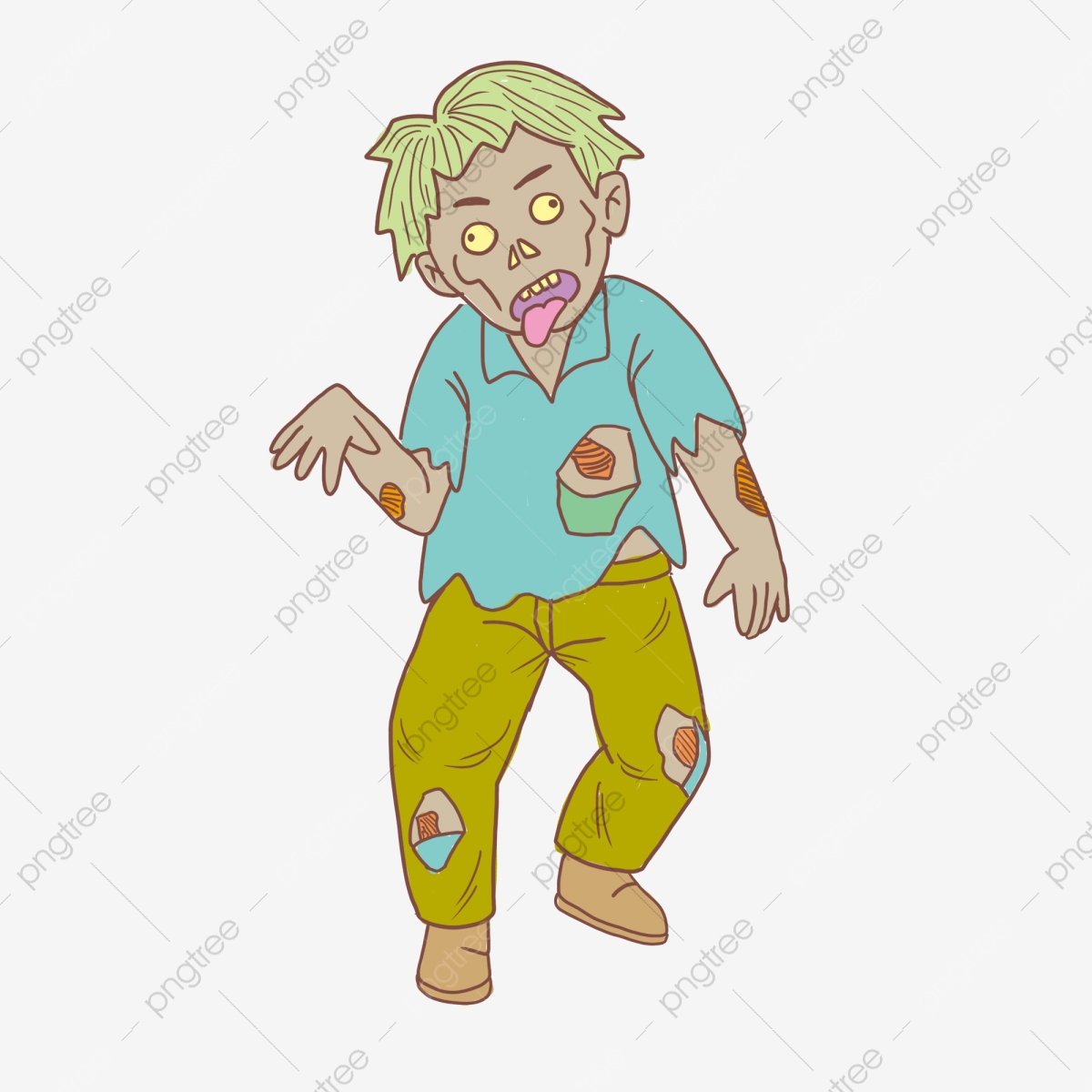Cartoon Zombie, Cartoon Clipart, Zombie Clipart, Walking Zombies PNG.