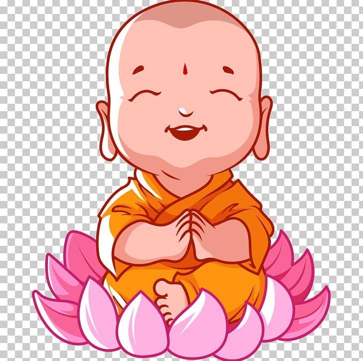Cartoon Buddhism Buddha\'s Birthday Bhikkhu PNG, Clipart.