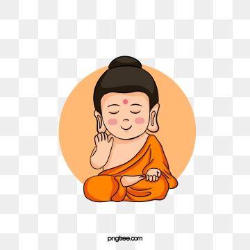 Cartoon Little Buddha Elements, Buddhism, Buddhas Birthday.