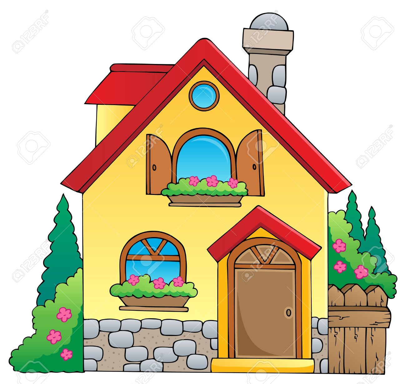 Cartoon House Clipart.