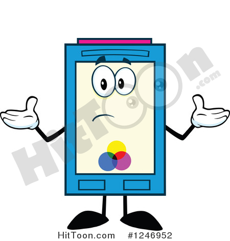 Ink Cartridge Clipart #1246952: Confused Color Ink Cartridge.