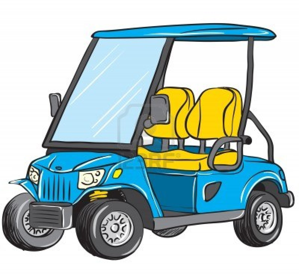 Funny Golf Cart Clipart.