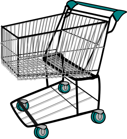 Clipart grocery cart.