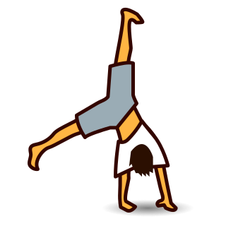 Collection of Cartwheel clipart.