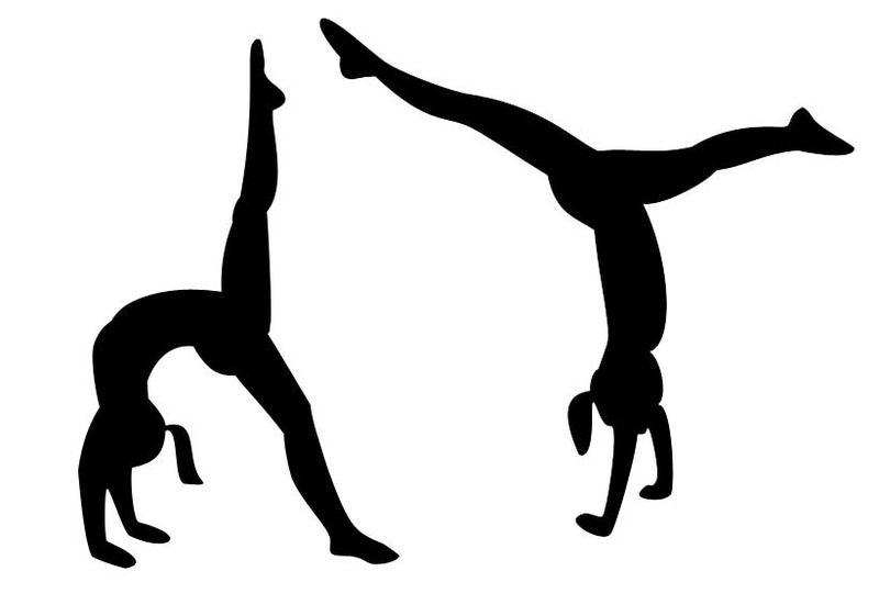 Gymnastics Clipart Black And White Cartwheel.