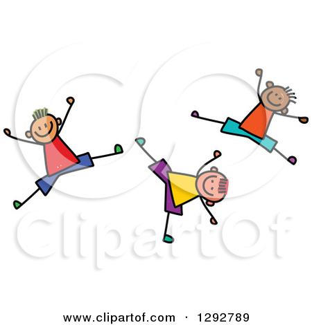 Cartoon Black And White Outline Design Of A Man Doing A Cartwheel.