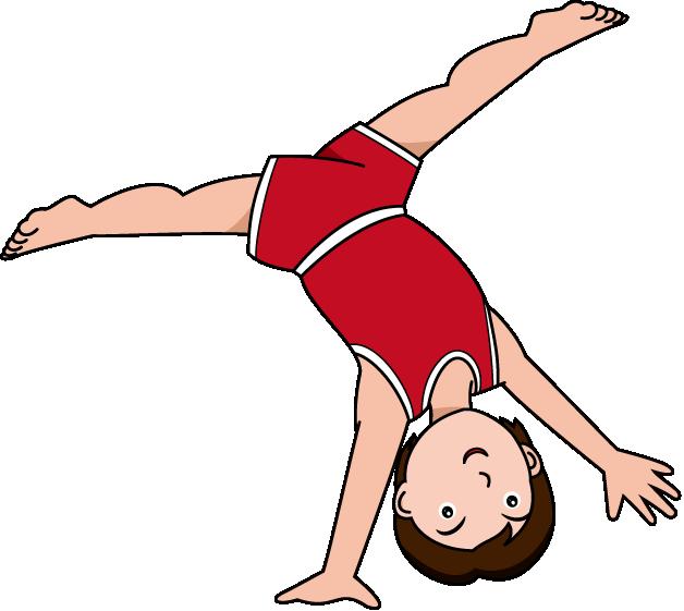 Gymnastics Cartwheel Clipart.