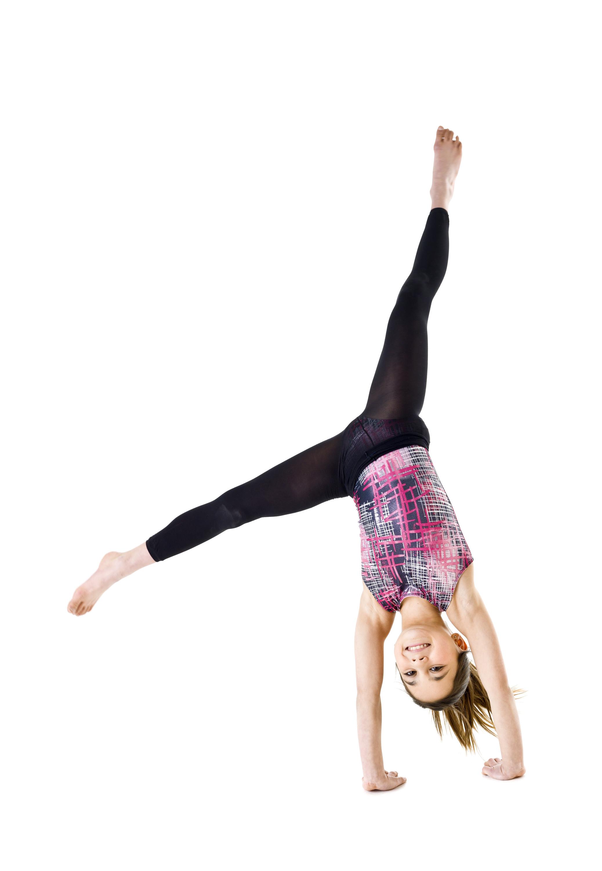 Cartwheeling Student Clipart.