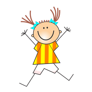 Girl doing Cartwheels clipart, cliparts of Girl doing.