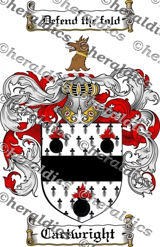 Cartwright Coat of Arms Cartwright Family Crest Instant Download.