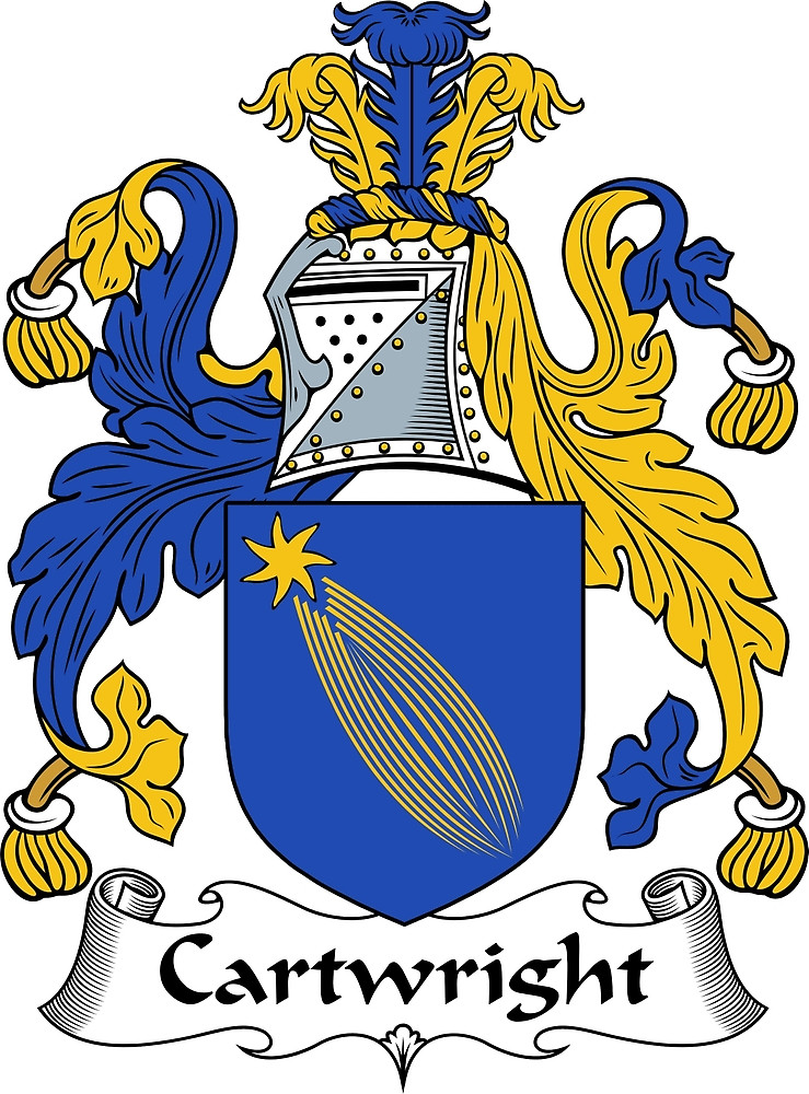 """Cartwright Coat of Arms / Cartwright Family Crest"""" by."""