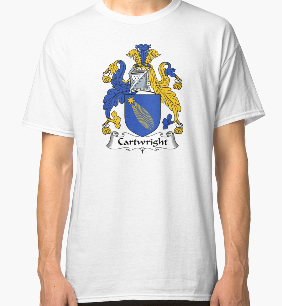 "Cartwright Coat of Arms / Cartwright Family Crest"" Classic T."