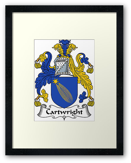 """Cartwright Coat of Arms / Cartwright Family Crest"""" Framed Prints."""