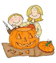 Pumpkin carving clip art.