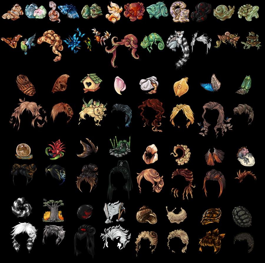 Carved Stone Animal Wig Series by EmphasisMine on DeviantArt.