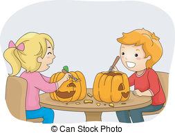Carved pumpkin vine clipart.