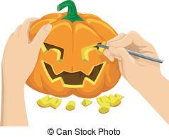Clipart pumpkin carving.