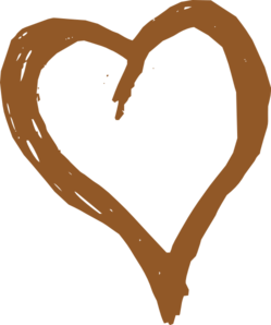 Brown Heart Clip Art at Clker.com.
