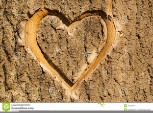 Carved Heart Clipart.