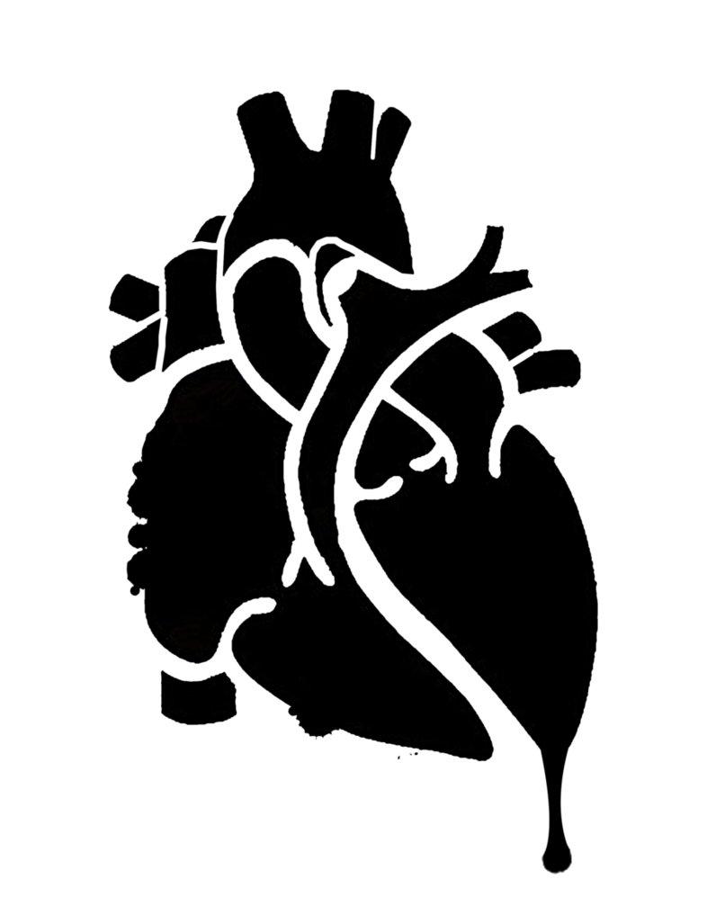 PUMPKIN CARVING TEMPLATES: HEART HALLOWEEN PUMPKIN CARVING DESIGN.