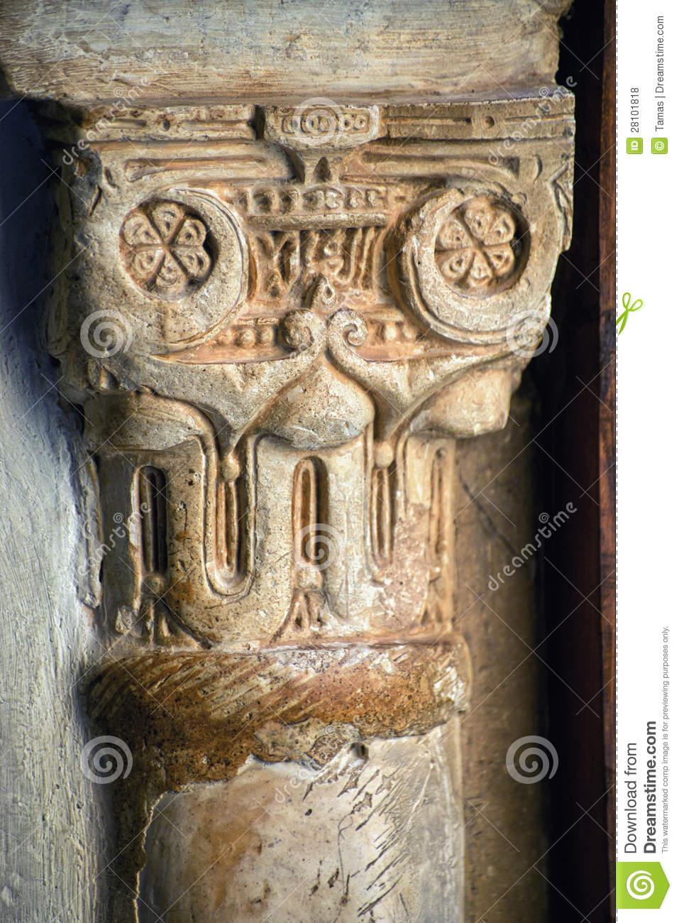 Ancient Carved Pillar Royalty Free Stock Photos.