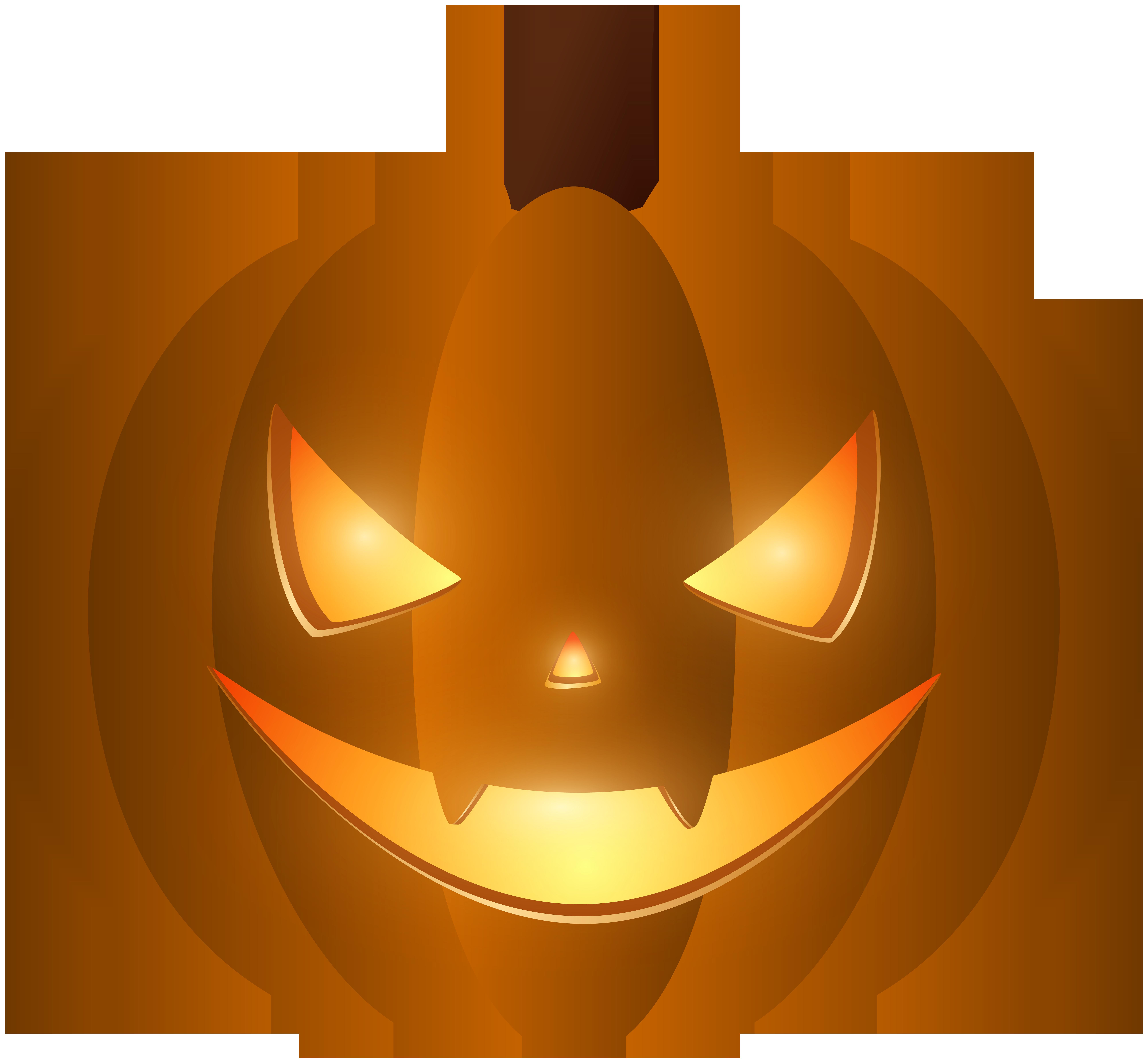 Halloween Carved Pumpkin PNG Clip Art.