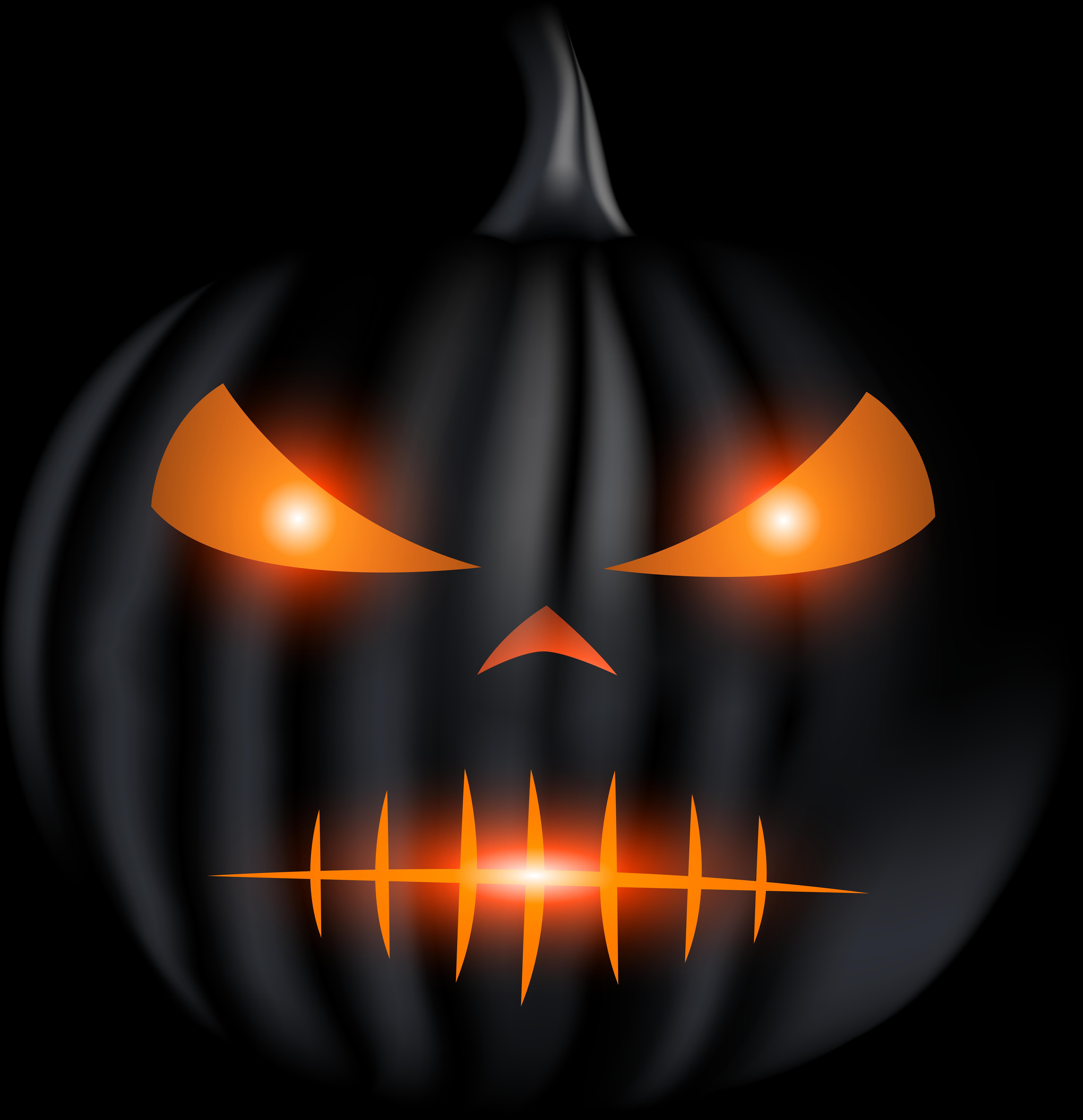 HD Halloween Black Carved Pumpkin Png Clip Art Transparent PNG Image.
