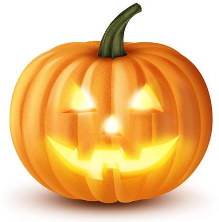 Carved Halloween Pumpkin PSD #232684.
