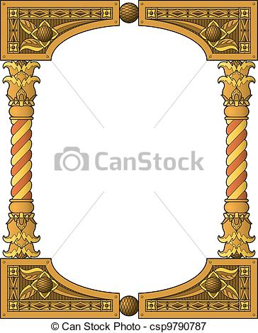 Vectors Illustration Of Traditional Wooden Frame