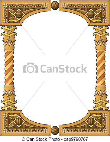 Vectors Illustration of Traditional wooden frame.