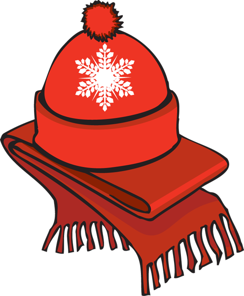 Hats and scarves clipart.