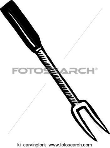 Clipart of Carving Fork ki_carvingfork.