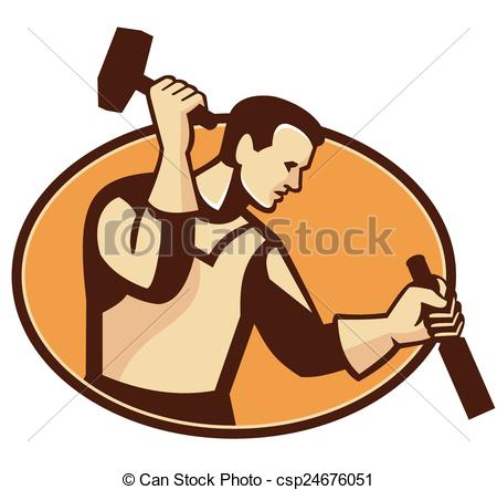 Wood carving clipart.