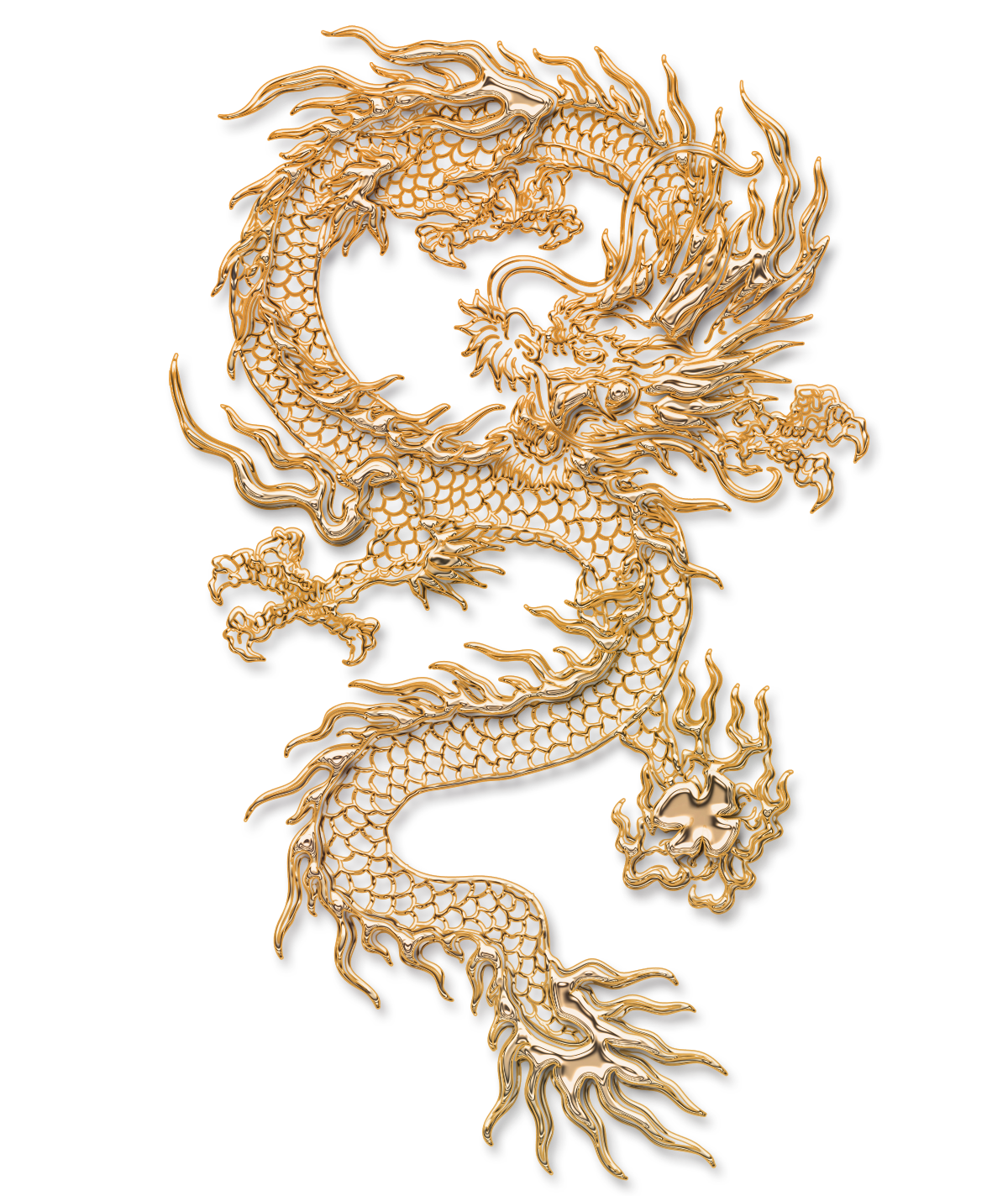 Download Tattoo Carving Illustration Chinese Dragon Free Transparent.