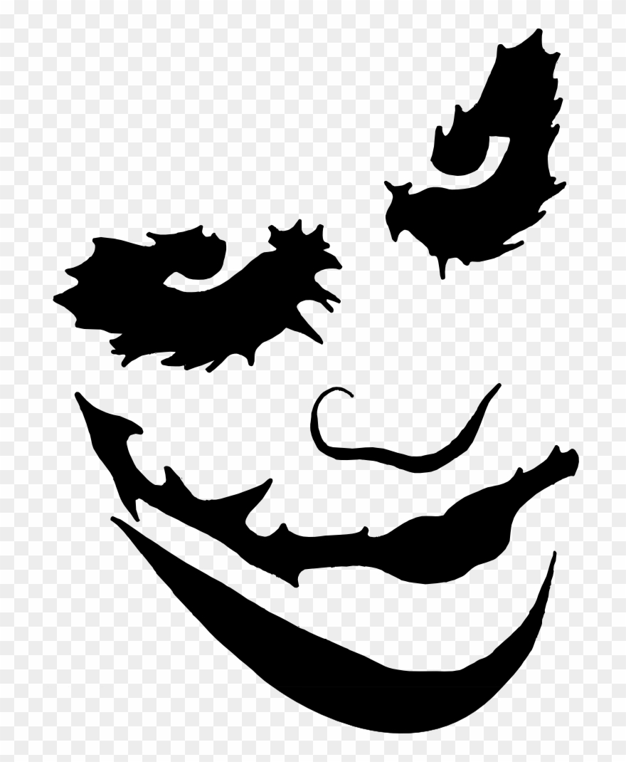 Joker Face Paint Png Transparent Stock.