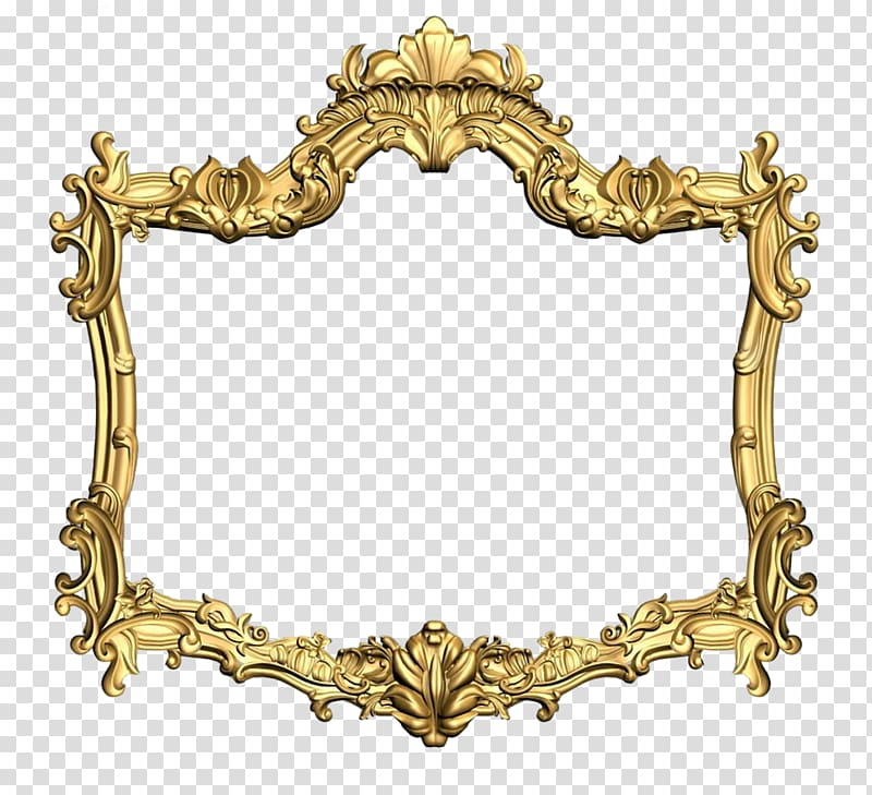 Bronze ornate frame illustration, Frames Ornament Gold Wood carving.
