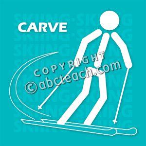 Clip Art: Ski Carving (Color).