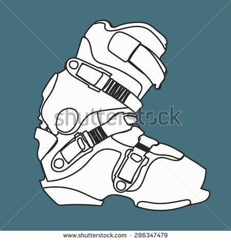 Ski Shoes Stock Vectors, Images & Vector Art.
