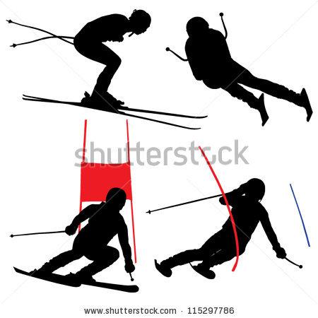 Ski Race Stock Photos, Royalty.