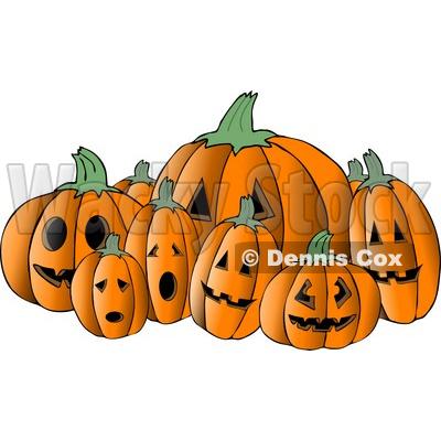 Halloween Pumpkin Carving Clip Art.