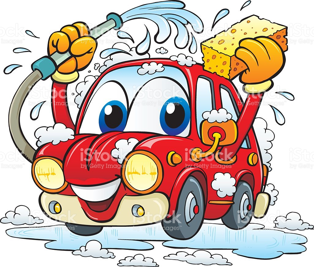 Car wash clipart vector.