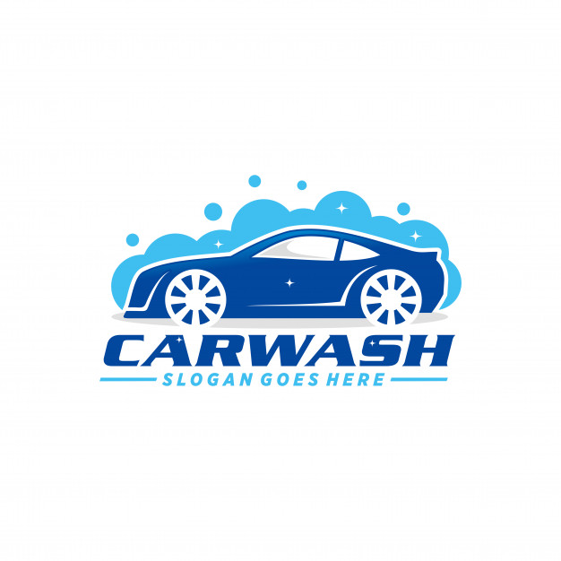 Car wash logo template Vector.