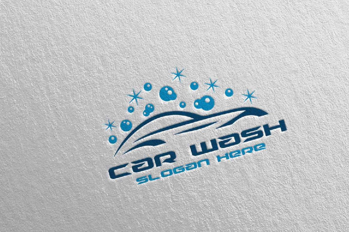 Car Wash Logo, Cleaning Car, Washing and Service Logo 14.