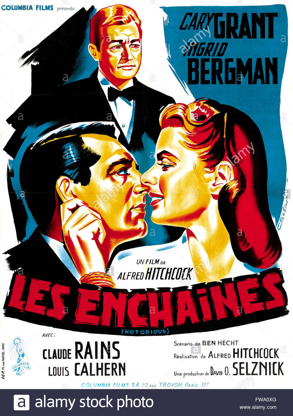 Les Enchaines Notorious 1948 Real Alfred Hitchcock Cary Grant.